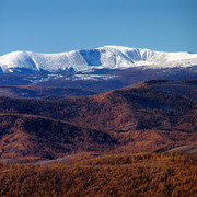 Mongolia - over looking Khangai Mountains 01