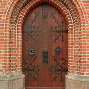 Denmark - a gate to Ribe Cathedral