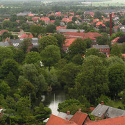 Denmark - view of Ribe from the Ribe Cathedral