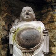South Korea - a Buddha Belly in Haedong Yonggunsa Temple