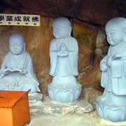 South Korea - small Buddha statues in Haedong Yonggunsa Temple