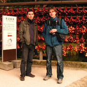 Japan - Enrico and Brano in a Shinto Shrine in Fukuoka
