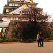 Brano and Paula in front of Osaka Castle