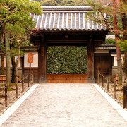 Japan - a temple gate in Kyoto