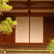 Japan - Kyoto - a hall's door in the Ginkakuji Temple