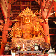 Japan - a statue inside Todaiji Temple in Nara