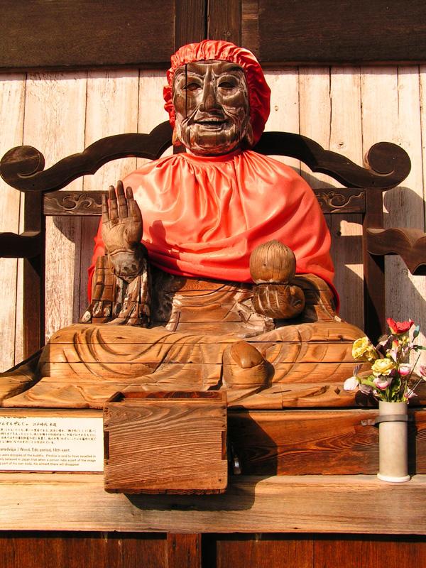 Japan nara pindola statue at todaiji