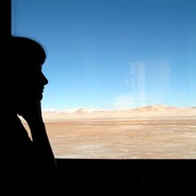 In the train to Lhasa (Tibet)