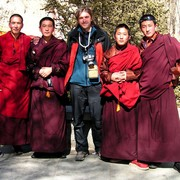 Tibet - Brano with monks in Lhasa