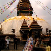 Brano in front of Monkey Temple in Kathmandu