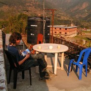 Nepal - a guesthouse in Besishar