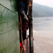 Laos - to Luang Prabang by boat 04