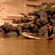 Laos - to Luang Prabang by boat 13