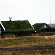 Iceland - old houses with grass roofs