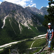 The Italian Dolomites - a valley of the river Boite