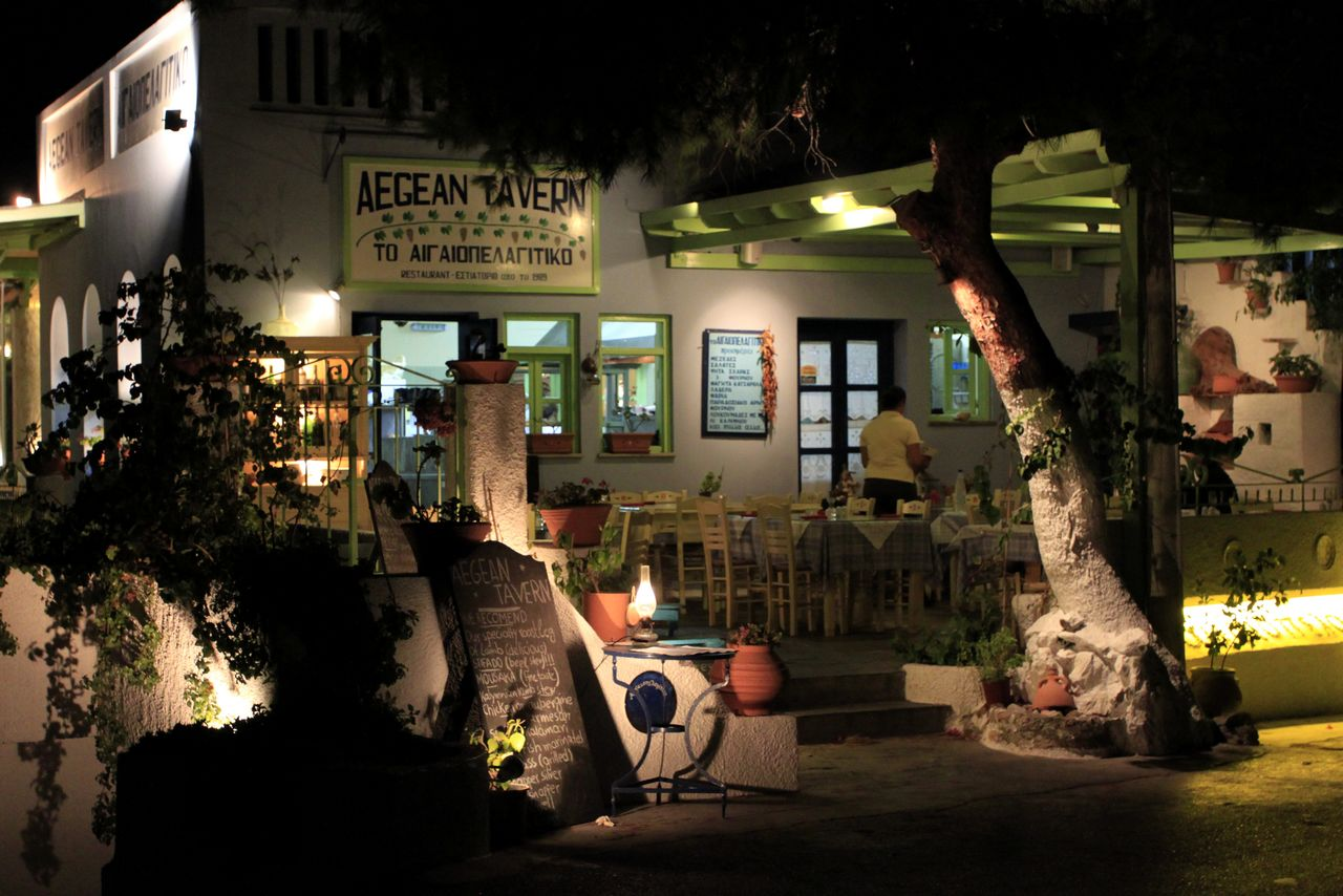 Greece - Kalymnos - night streets of Masouri