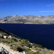 Greece - a view of Kalymnos from Telendos