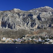 Greece - a view of Kalymnos climbing areas from Telendos