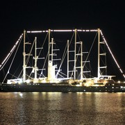 Greece - a big sailing boat in Rhodes