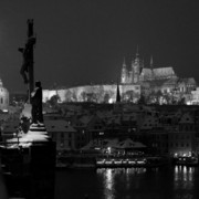 Czechia - Prague Castle from Charles Bridge