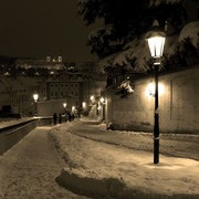Czechia - beautiful winter night in Prague