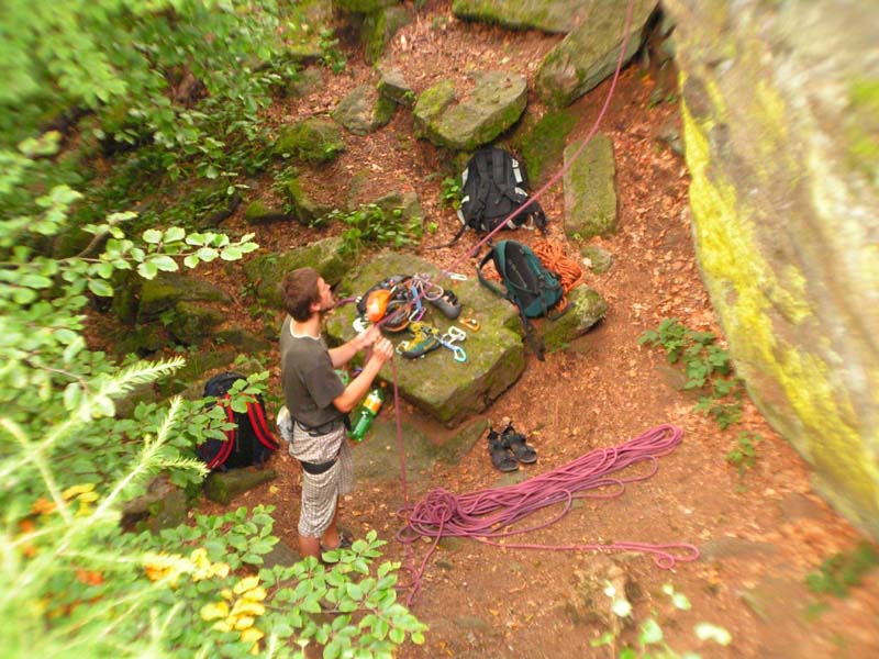 Czechia - rock climbing in Choustnik 02