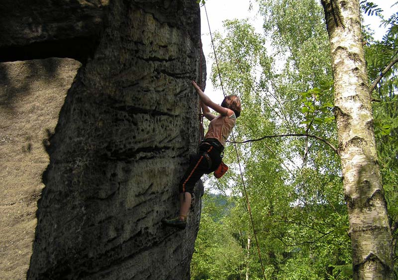 Czechia - climbing in the Elbe Sandstone 14