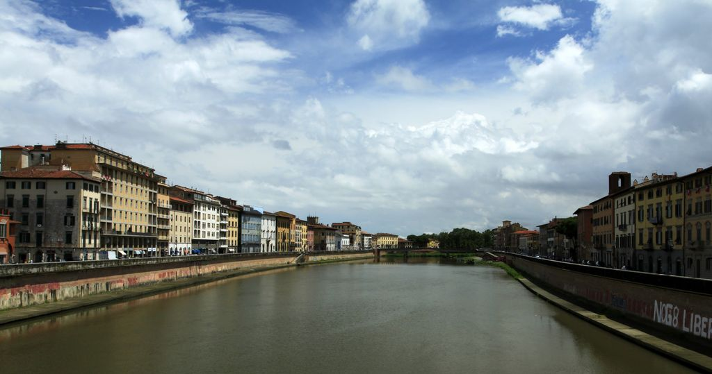 Pisa - bridge through the River Arno
