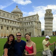 In front of the Pisa Tower