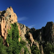 Calanche rock formations in Piana