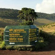 Sri Lanka - a Horton Plains trekking sign