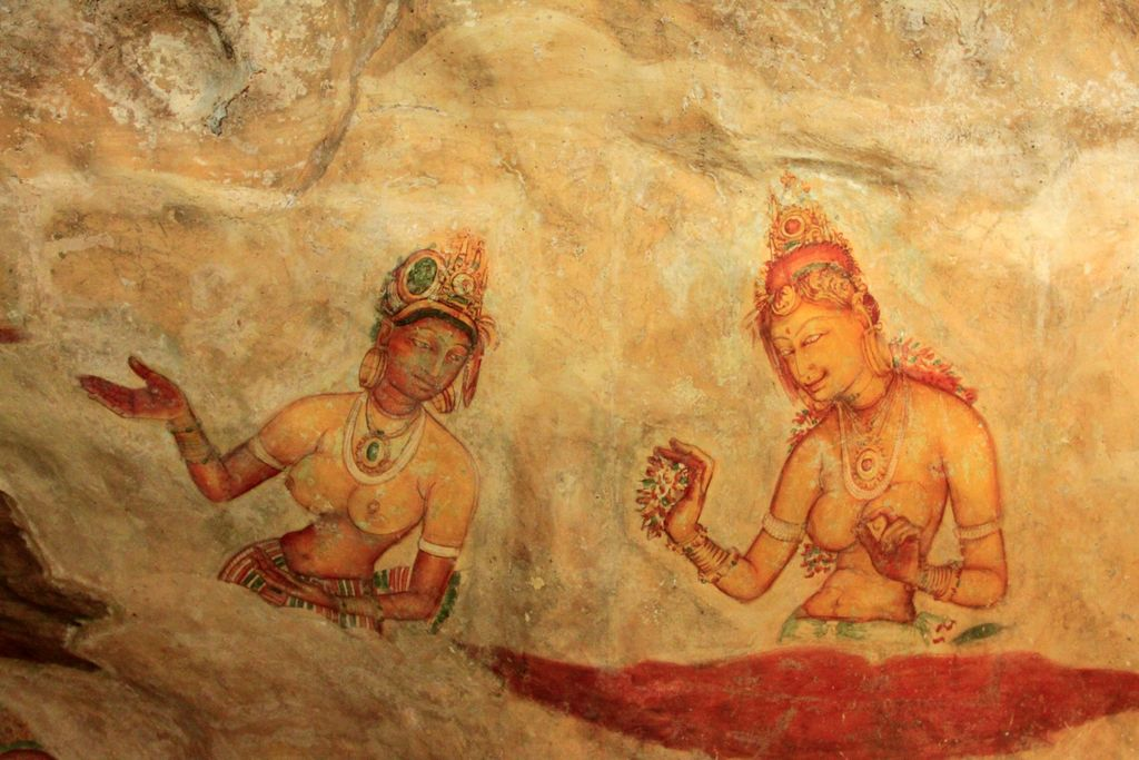 Image result for sigiriya fresco