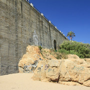 Spain - artificial climbing wall in Sant Pol de Mar 01