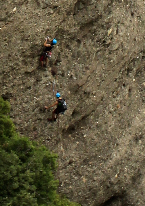 Spain - climbers in Montserrat  mountains