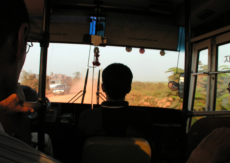 Cambodia - a bus to Siam Reap