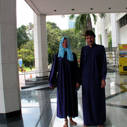 Malaysia - in front of a muslim mosque