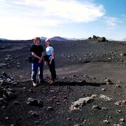 Paula and Brano in an Icelandic moon country