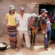 Local family in the Atlas mountains