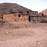 Local house in the Atlas mountains